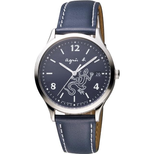 【agnes b.】巴黎城市戀人腕錶-藍/36mm(V157-0BR0B BZ7002P1)