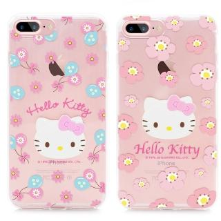 【GARMMA】Hello Kitty iPhone 7 Plus 5.5吋 TPU軟式保護殼(粉嫩系列)