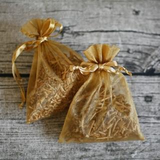 【MU LIFE 荒木雕塑藝品】純天然芳香檀木雪紗袋香包(2包裝)  MU LIFE 荒木雕塑藝品
