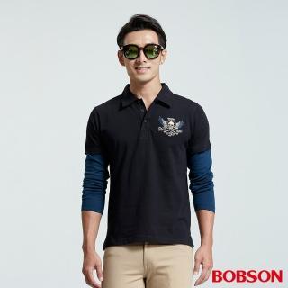 【BOBSON】男款POLO上衣(黑35018-88)