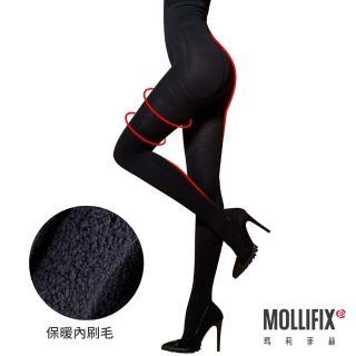 【Mollifix瑪莉菲絲】踮腳尖急塑保暖收腹褲襪(黑)