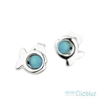 【Clio Blue】法國巴黎品牌/925純銀(經典小魚耳環-土耳其)
