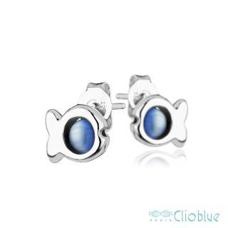 【Clio Blue】法國巴黎品牌/925純銀(經典小魚耳環-天空藍)