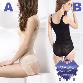 【A1件+B1件爆款後脫熱銷魔櫃MAGIC WARDROBE】後脫式A薄+B厚款收腹塑腰塑身衣(塑身衣瘦身衣塑身褲瘦身褲)
