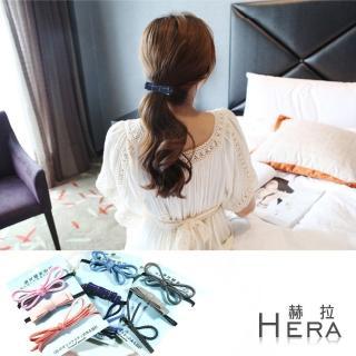 【Hera】手工牛仔丹寧蝴蝶結/髮圈/髮束//三入組(三款)
