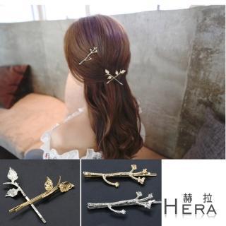 【Hera】森林系樹枝梅花邊夾/髮夾/一字夾(兩款兩色)