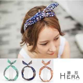 【Hera】碎花兔耳朵髮箍/髮帶(三色)