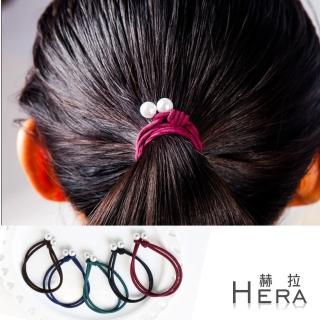 【Hera】雙層手工打結珍珠手圈/髮圈/髮束(五入組-不挑色)