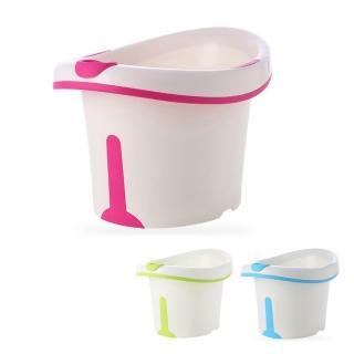 【babyhood】維尼幼兒坐式泡澡桶(附浴凳 趣味小水勺)
