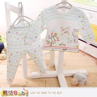 【魔法Baby】兒童居家套裝 3-5歲專櫃款超厚三層棉極暖睡衣套裝(k60219)