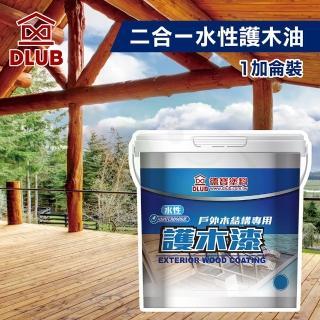 【德寶】德寶二合一水性木屋專用護木油(1加侖裝)
