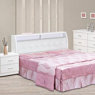 【樂和居】雪花5尺雙人三件組三色可選(床頭.床板.床墊.三件組)