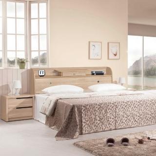 【樂和居】小抽北原橡木5尺雙人床頭箱(不含床墊、床板)