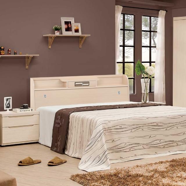 【樂和居】小抽白橡5尺雙人二件組二色可選(不含床墊)