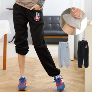 【衣心衣意中大尺碼】保暖貼圖內刷毛長褲(黑色-灰色B8025)