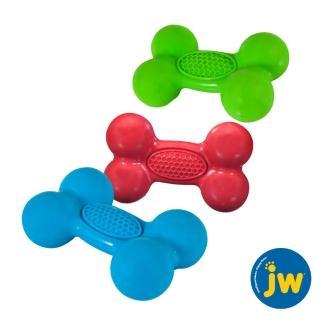 【美國JW】天然橡膠益智藏食骨-中(藍、綠、紅)   美國JW