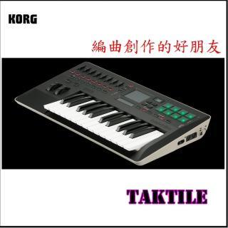 【KORG】Taktile 25鍵主控鍵盤 / USB MIDI Control Keyboard 公司貨(Taktile 25)