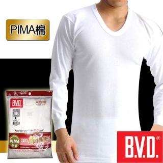 【BVD】極上PIMA棉U領長袖(台灣製造)