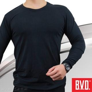 【BVD】棉絨圓領長袖(台灣製造)