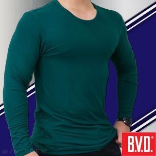 【BVD】光動能迅熱圓領長袖衫 1入組(台灣製造)