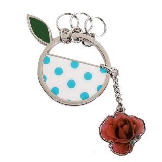 【agnes b.】點點圓圈玫瑰鑰匙圈(二色)