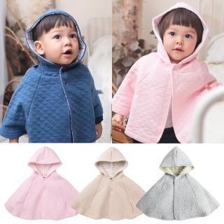 【baby童衣】斗篷 保暖厚棉格紋披肩外套 47025(共三色)