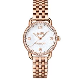 【COACH】優雅時尚魅力圈玫瑰金女錶(14502479)