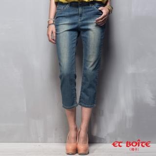【ET BOITE 箱子】簡約八分直筒褲