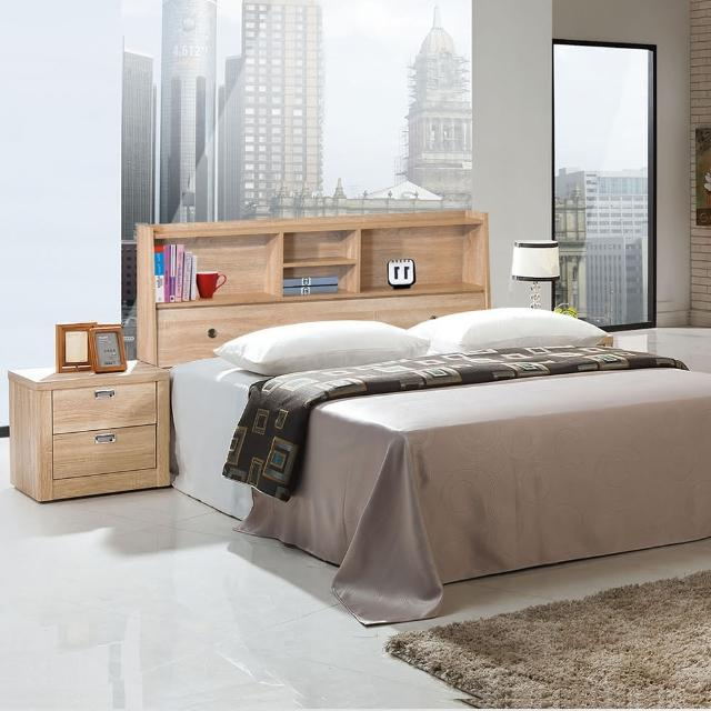 【樂和居】北原橡木二件5尺雙人床頭箱+床底(不含床墊)