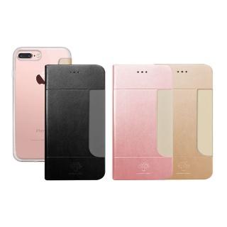 【Metal-Slim】APPLE iPhone 7 Plus(前插卡仿小羊皮手機套)