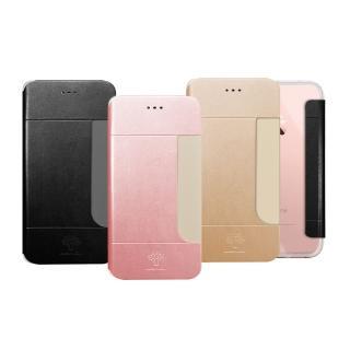 【阿柴好物】APPLE iPhone 7(前插卡仿小羊皮手機套)