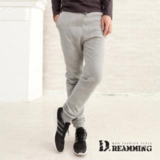 【Dreamming】修身優選厚磅刷毛休閒運動棉褲(共五色)