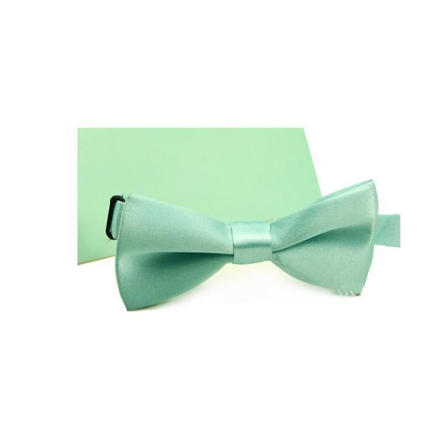 【拉福】兒童領結糾糾亮面小紳士專用領結(蒂芬尼藍)