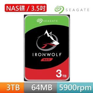 【Seagate】NAS用 3TB 3.5吋SATAⅢ 硬碟(ST3000VN007)