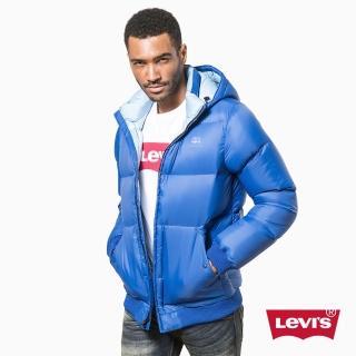 【Levis】男款連帽厚羽絨外套 / 海洋藍雙色 / 清新 - Levis