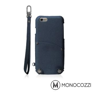 【MONOCOZZI】Posh iPhone 7 掛繩口袋皮套(深藍)