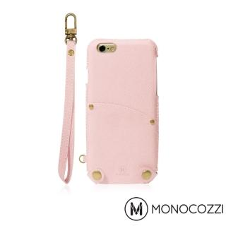 【MONOCOZZI】Posh iPhone 7 掛繩口袋皮套(嫩粉紅)