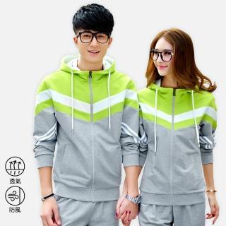 【KissDiamond】高品質時尚休閒連帽套裝(外套+褲子  S-3XL兩色可選)