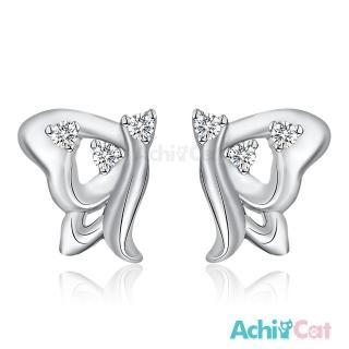 【AchiCat】925純銀耳環 飛舞精靈 蝴蝶 純銀耳針 GS6044