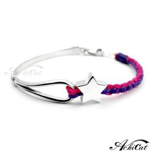【AchiCat】蠶絲蠟繩手鍊 夢幻冒險 星星 HS6075(桃紫)