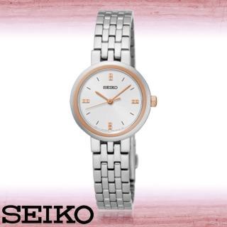 【SEIKO 精工】氣質女錶_不鏽鋼錶帶_強化玻璃鏡面_防水_女錶(SRZ458P1)