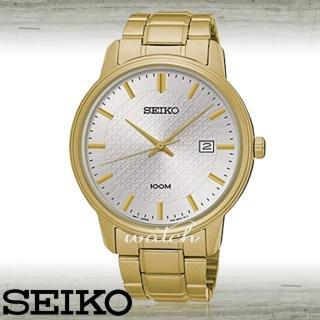 【SEIKO 精工】平價時尚_不鏽鋼錶帶_按壓式折疊錶扣_防水_日期顯示_男錶(SUR198P1)