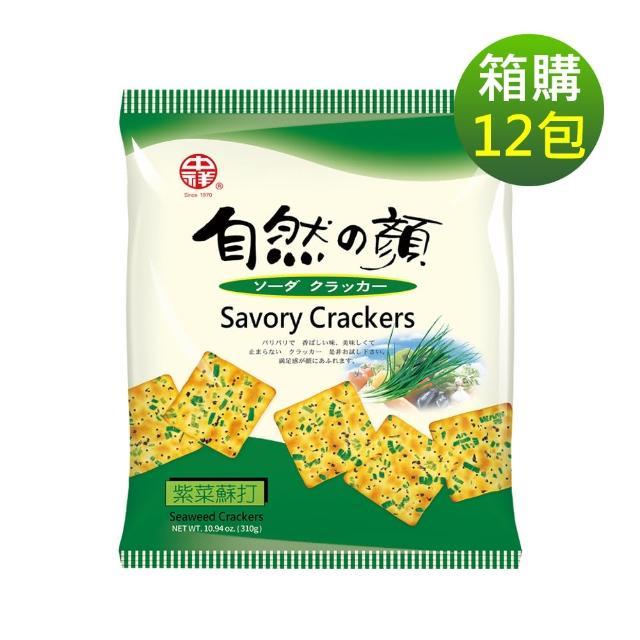 【中祥】自然之顏紫菜蘇打餅乾310gx12包