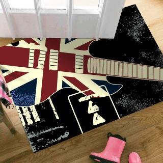 【范登伯格】搖滾吉他酷黑地毯/踏墊(60x100cm)