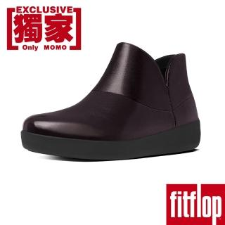 【FitFlop TM】SUPERMOD TM LEATHER ANKLE BOOTS(櫻桃紅)