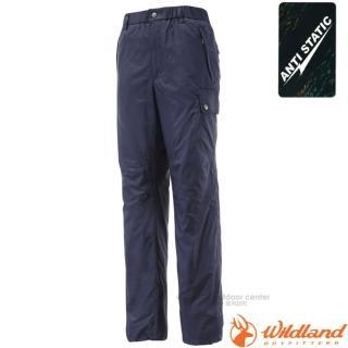 【荒野 WildLand】男款 鬆緊帶輕量保暖長褲.休閒長褲.防風褲.工作褲(0A12336 深藍)