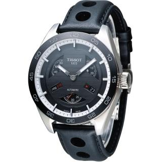 【TISSOT  天梭】PRS 516 Automatic Small Second  賽車元素機械腕錶(T1004281605100)