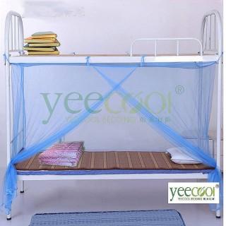 【Yeecool】【快速到貨】1門藍紗細緻紗質長方形蚊帳(單人床或是上舖.下舖皆可用)