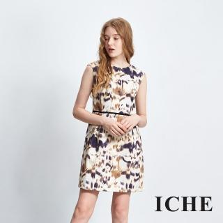 【ICHE 衣哲】抽象暈染印提花洋裝