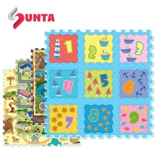 【SUNTA拼接樂扣墊-超值2入組】EVA樂扣遊戲墊-32*32*1cm 9片裝(地墊/爬行墊)(10款可選)